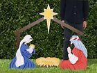 Outdoor Nativity Scene Christmas Lawn Decoration 6 Full Color 2D Holy Family