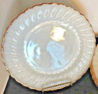 Fire King Dinner Plates Shell Set of 5 22K Gold Trim 10
