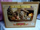 NEW 2000 Grandeur Noel 10 Pc Collector Edition Nativity Set with Barn Complete