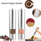 Electric Salt  Pepper Mill Set Stainless Steel Electronic Grinder Pot Shaker