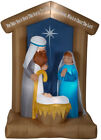 Airblown Inflatable Nativity With Archway Scene Outdoor Christmas Holiday Decor