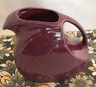 Fiestaware Claret Large Disc Pitcher Fiesta Retired Large 67 oz Water Pitcher