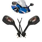 Rearview Mirrors w/ Turn Signal For Suzuki GSXR 1000 GSXR600 GSX-R 750 2006-2015