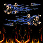 Skull Eagle Flame Stickers Motocross Motorcycle PET ATV Racing Bike Helmet Decal