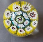 Gorgeous Murano Glass Millefiori Paperweight Small Egg Oval 225 C