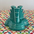 Fiestaware Turquoise Pyramid Candle Holder Fiesta Blue Retired Single
