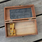 Vintage GOODYEAR Original Syringe Wooden Box with Hinges and Clasp EMPTY