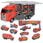 Gifts10 in 1 Die cast Fire Engine Vehicle Mini Rescue Emergency Fire Truck Toy