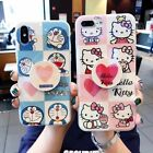 Cute Hello Kitty Airbag Stand Holder Case Cover for iPhone XR XS Max 6S 7 8 Plus