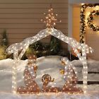 Pre Lit 6 Tall Nativity Scene Shimmer Lawn Christmas Decoration Outdoor Holiday