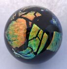 1994 Signed Roger Vines Dichroic Art Glass Studio Paperweight MSH Iridescent