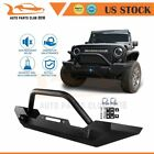 Black Textured Front Offroad Bumper Guard US For 1987 2006 Jeep Wrangler TJ YJ
