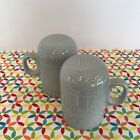 Fiestaware Pearl Gray Range Top Salt and Pepper Shakers Fiesta Retired Set
