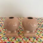 Fiestaware Apricot Bulb Candle Holders Fiesta Retired Peach Pink Round Set of 2