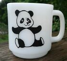 Vintage Glasbake ~ PANDA BEAR ~ Milk Glass COFFEE MUG