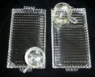 Orchard Crystal Clear Glass Smoke n Snack Set Luncheon Plate and Cup 4pc  Vtg