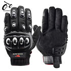 Motorcycle Gloves Leather Touch Screen Breathable Black Racing Motorbike Gloves