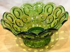 Moon and Stars Emerald Green Footed Centerpiece Bowl L.E. Smith 9.5
