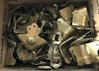 Large lot antique vtg steamer trunk latches pieces unmatched brass plated steel