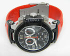 TISSOT MENS T-RACE WATCH BLACK CHRONO DIAL RED RUBBER STRAP T048417A