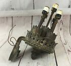 SUPER RARE ANTIQUE ARCHITECTURAL OLMOS DAM BRONZE WALL SCONCE SALVAGE LIGHT LAMP