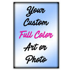 24x 36 Glossy look Custom Printed Poster Your Photo Image Enlarged 12x12