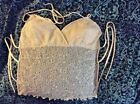 Gorgeous Beaded Top Open Back Sun Beach Bridal Vacation Wear Large Excellent