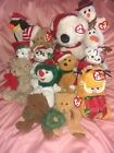 TY HOLIDAY BEANIE BABIES LOT