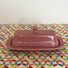 Fiestaware Rose Butter Dish Fiesta Retired Pink Small Covered Butter