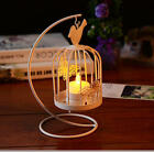 Creative Iron Craft Birdcage Candle Holder Home Dining Room Decor Cute gift