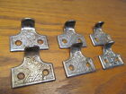 6 OLD WINDOW SASH LIFTS...DRAWER PULLS.....ORNATE..