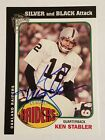 Ken Stabler 2004 Topps All Time Fan Favorites Silver Black Attack Auto Signature