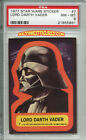 STAR WARS 1st Series Trading Card STICKER #7 Lord Vader - PSA 8 (Topps 1977)