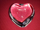 BACCARAT CRYSTAL CLEAR HEART SIGNED  BEAUTIFUL