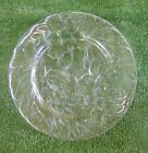 VINTAGE CLEAR GLASS PLATES SET OF 3 ~ 10-3/8