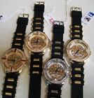 MEN'S ICE OUT TECHNO PAVE SILICONE BAND HIP HOP BLING FASHION WRIST WATCH