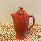 Fiestaware Persimmon Coffee Server Fiesta Retired Orange Serving Pitcher