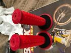 Bmx oakley reissue red grips with box in mint condition