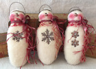 Primitive Ornies Snowmen Angel Ornies Bowl Fillers Make Do's Prim Ornies Winter