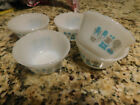5 Fire-King BLUE HEAVEN Custard Cups Nesting  EXCELLENT Condition