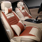 5-seats Car Seat Cover Mat Decor Cushion Pu Leather 4 Colors For Honda Civic Mwt
