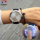 Creative Personality Minimalist Touch Screen Waterproof LED Watch Leather Men