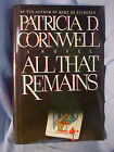 All That Remains by Patricia Cornwell 1992 Hardcover SIGNED 1st