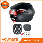 35L Motorcycle Top Box Rear Tail Case Scooter Storage Luggage Trunk Detachable