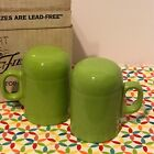 Fiestaware Chartreuse Rangetop Salt and Pepper Shakers Fiesta Retired Range Top
