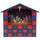 Christmas Calendar Count Down Decor 25 Drawer Nativity Scene Pre Decorated