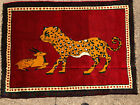 3x5 ANTIQUE PERSIAN RUG HUNTING RUGS PICTORIAL vintage oriental IRAN 4x5 4x6 ft