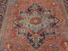 Antique Persian Heriz Serapi rug estate lovely Amazing carpet 7'6''x10'7''