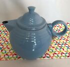 Fiestaware Periwinkle Metal Teapot Fiesta Official Go Along Genuine Accessory