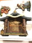 Thomas Kinkade Hawthorne Village Christmas Nativity Set 10 Piece Holly Family
